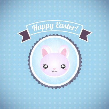 Happy easter cards illustration retro vintage with easter bunny stock vector