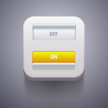 Toggle Switch On and Off position. Vector Illustration stock vector