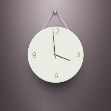 Vector mechanical clock vector illustration stock vector