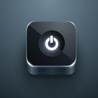 Black power button vector stock vector