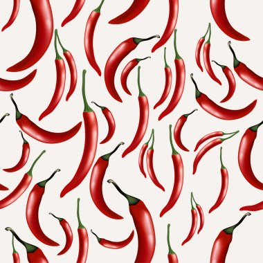 Seamless pattern with hot chilly pepper stock vector