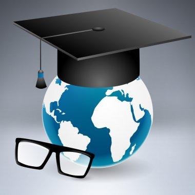 Graduation cap,  vector illustration stock vector