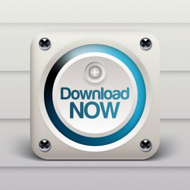 Download now button. vector illustration stock vector