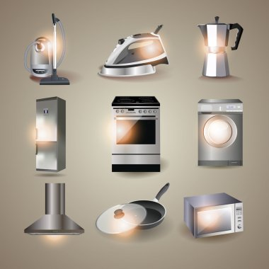 Set of of household appliances. vector stock vector