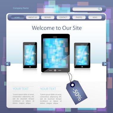 Website design template vector illustration stock vector