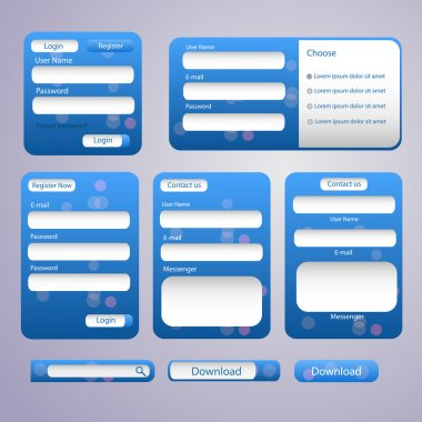 Login and register web screens-vector stock vector