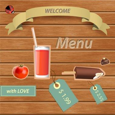 Restaurant menu design card stock vector