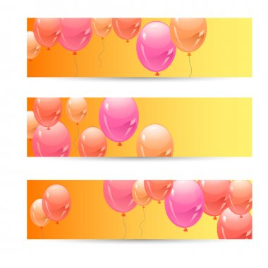 Colorful balloons background. vector illustration stock vector