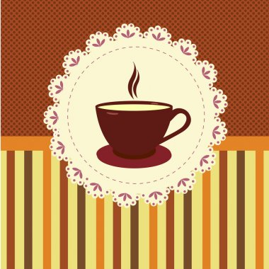 Cup of tea background. Vector illustration stock vector