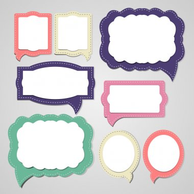 Set of speech and thought blobs, vector stock vector