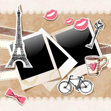 Paris doodles vector  illustration stock vector