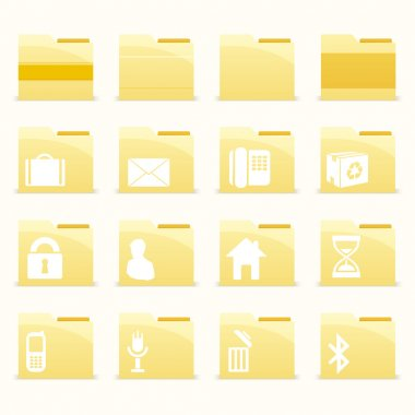 Vector folder icons set stock vector