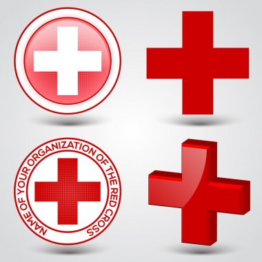 First aid medical button sign stock vector
