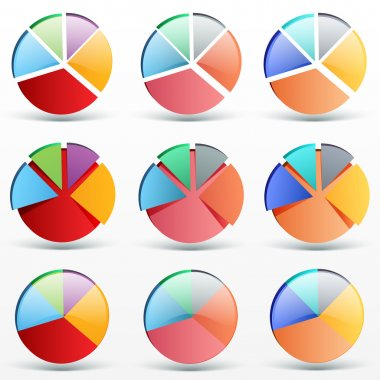 Business graph. Vector Illustration stock vector