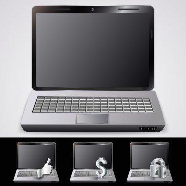 Laptop. vector vector  illustration stock vector
