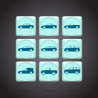 Car icons vector  illustration stock vector