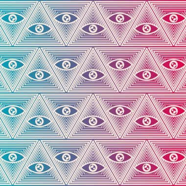 Seamless background with eyes stock vector