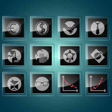 Business Icons vector  illustration stock vector