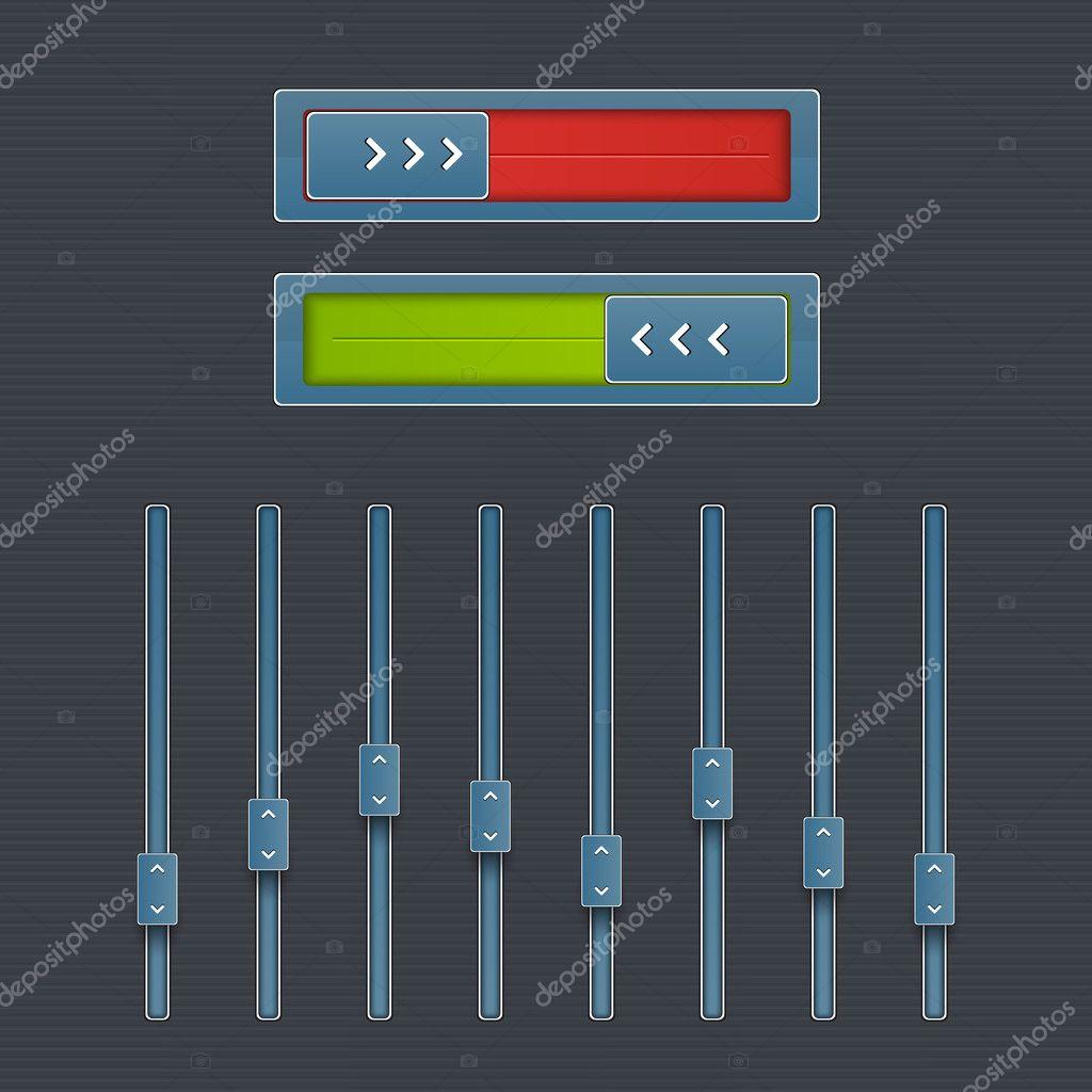 Vector web audio players stock vector