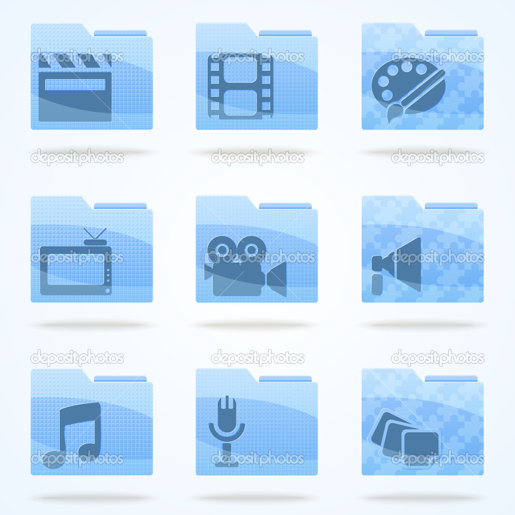 Vector folder icons set stock vector