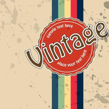 Vector vintage background. vector  illustration stock vector
