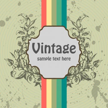 Vector vintage background. vector  illustration stock vector