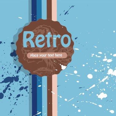 Vector retro background. vector  illustration stock vector