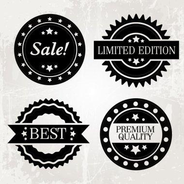Set of vector labels stock vector