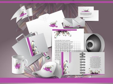 Corporate identity template with abstract elements. stock vector