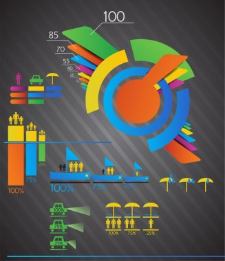 Vector infographics set. vector  illustration stock vector