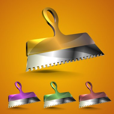 Trowel. Vector icons vector  illustration stock vector