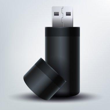 USB flash drive. vector  illustration stock vector
