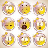 sada znaků, žluté emotikon