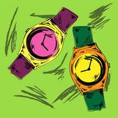 Vektor vintage watch vektoros illusztráció