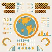 Vektor-Infografiken eingestellt. Vektorillustration