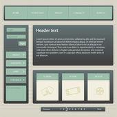 Šablona návrhu webu, vektor.