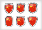 Different icons with Flag of China