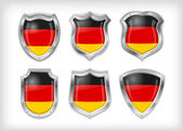 Different icons with flag of Germany