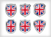 Different icons with flag of Great Britain