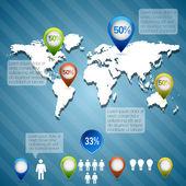 Obchodní infographic prvky, vektorové ilustrace