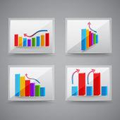 úspěch grafika. vektorové ilustrace