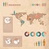 Geschäftsinfografische Elemente, Vektorillustration