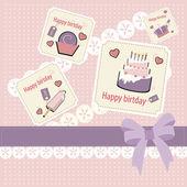 Retro születésnapi scrapbook beállítása