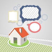 house with speech bubbles
