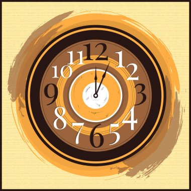 Vector vintage clock vector illustration stock vector