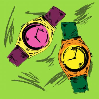 Vector vintage watch vector illustration stock vector