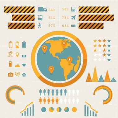 Vector infographics set. vector illustration