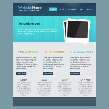 Web site design template, vector. stock vector
