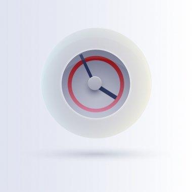 Clock icon button, vector illustration stock vector