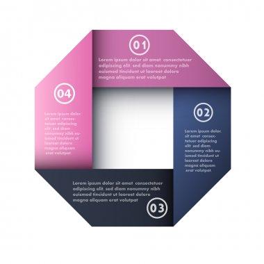 Four steps process arrows - design element. Vector. stock vector